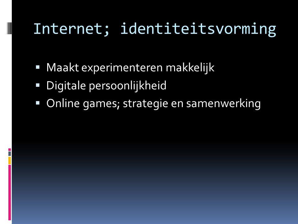 Internet; identiteitsvorming
