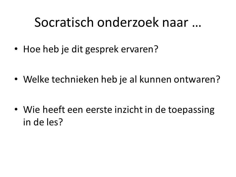 Socratisch onderzoek naar …