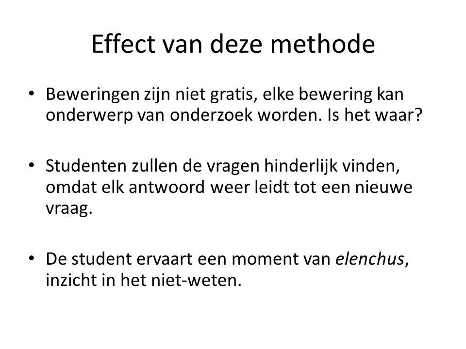 Effect van deze methode