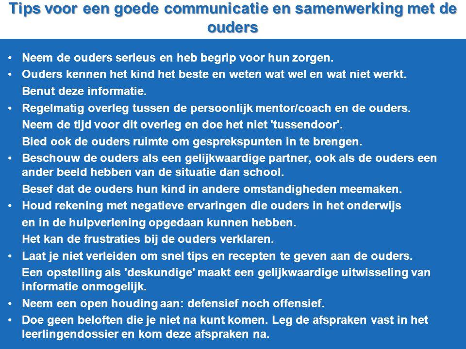 Tips voor een goede communicatie en samenwerking met de ouders