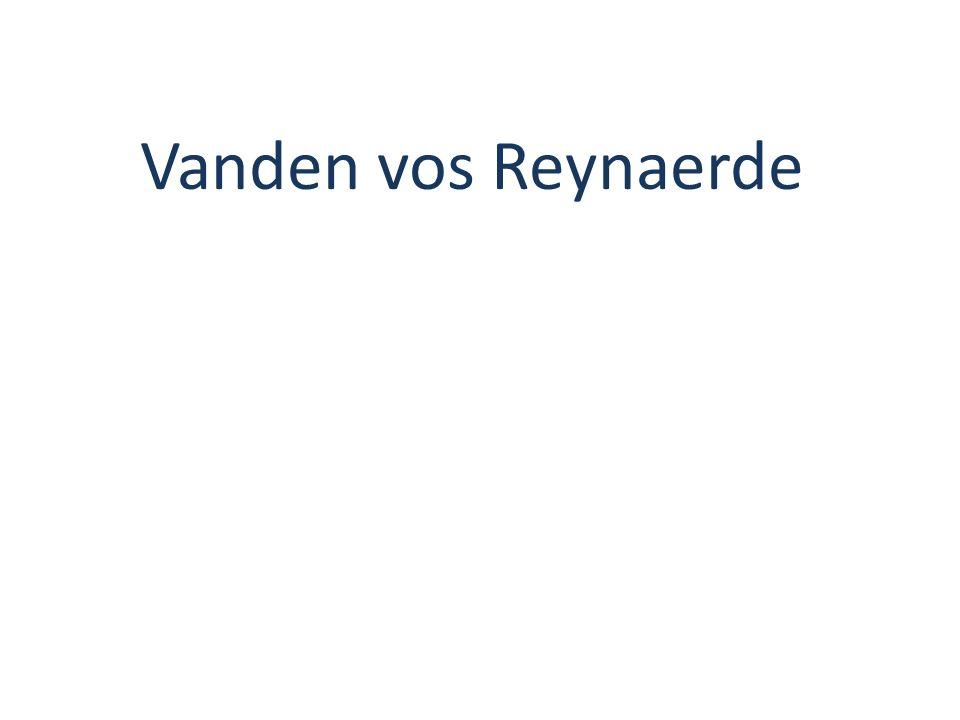 Vanden vos Reynaerde