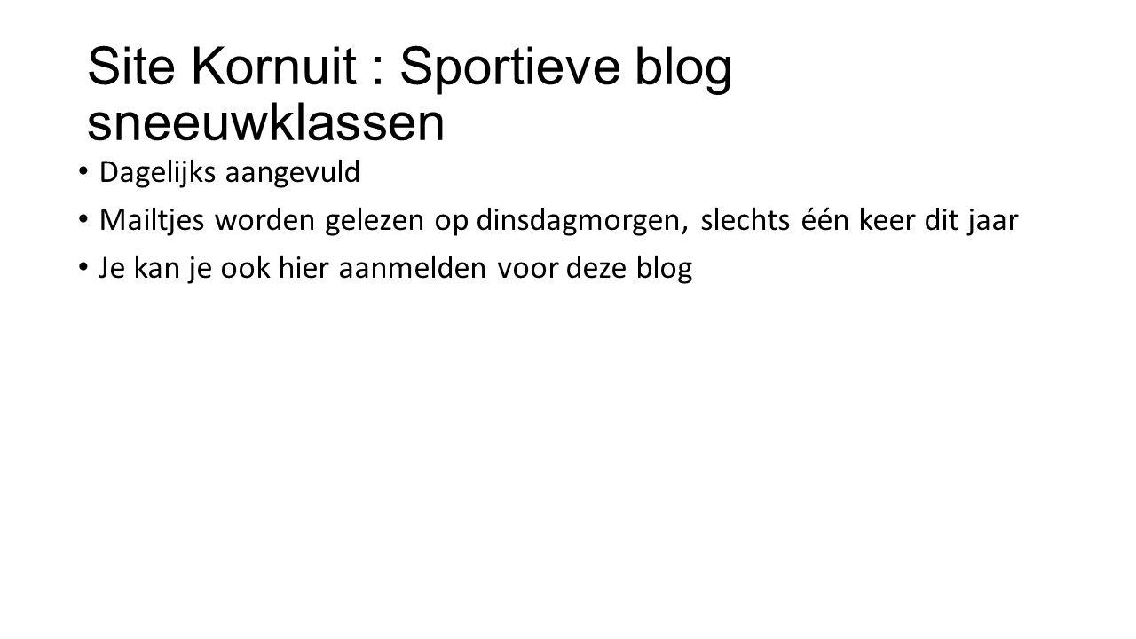 Site Kornuit : Sportieve blog sneeuwklassen