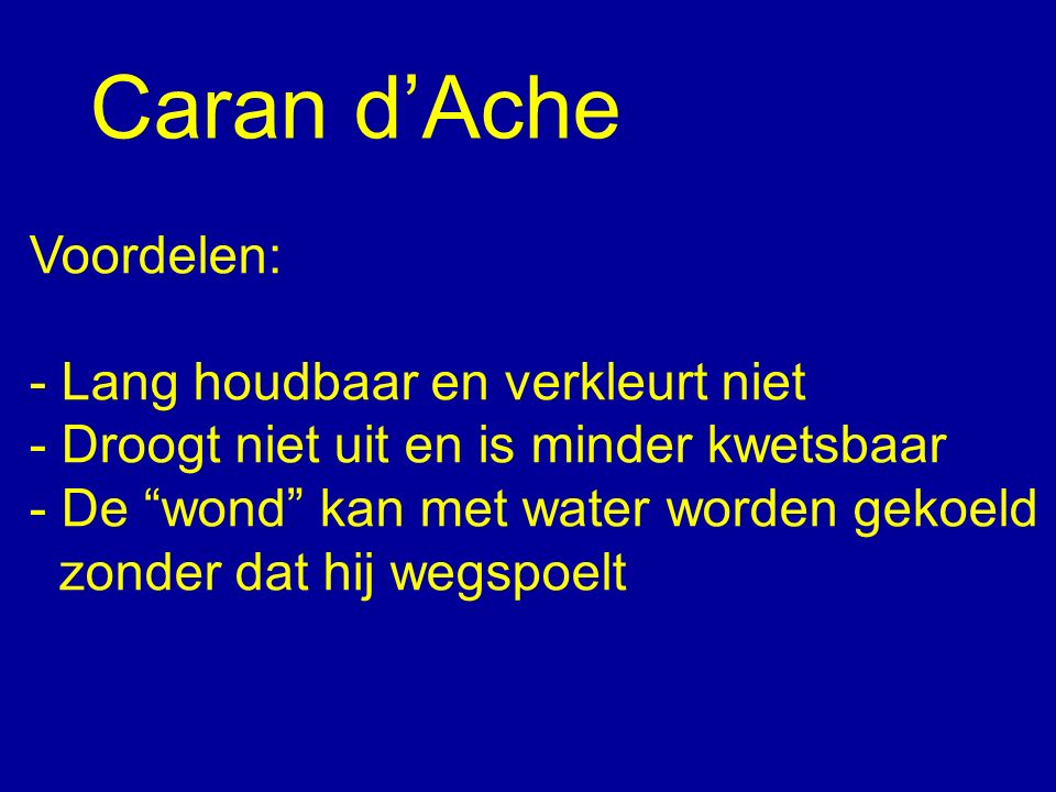 Caran d'Ache Voordelen: - Lang houdbaar en verkleurt niet