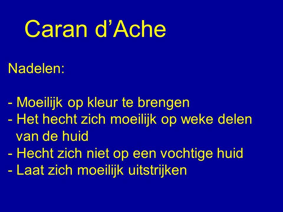 Caran d'Ache Nadelen: - Moeilijk op kleur te brengen