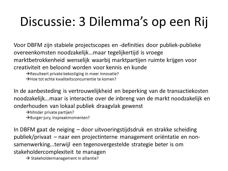 Discussie: 3 Dilemma's op een Rij