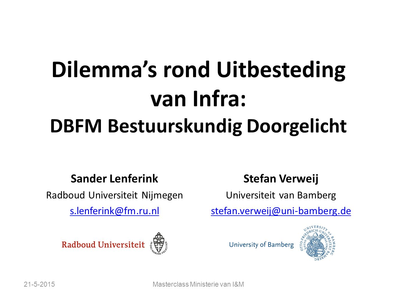 Dilemma's rond Uitbesteding van Infra: DBFM Bestuurskundig Doorgelicht