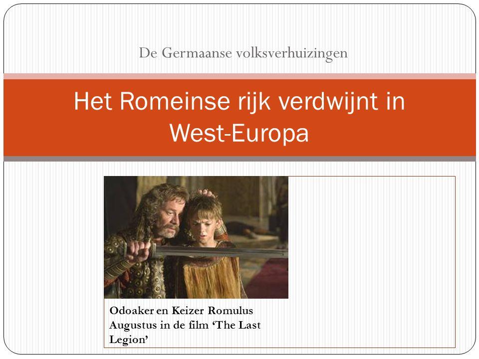 Het Romeinse rijk verdwijnt in West-Europa
