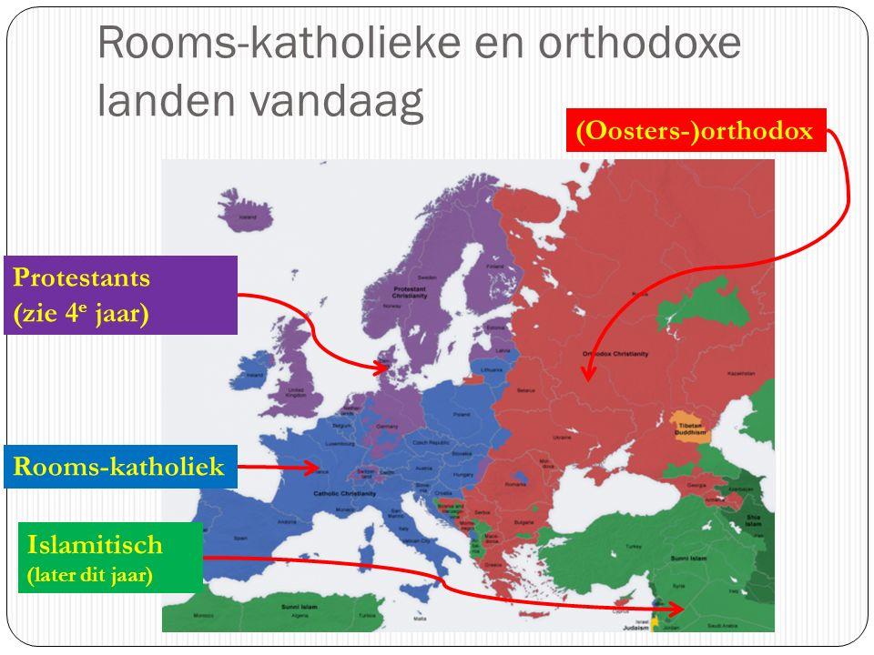 Rooms-katholieke en orthodoxe landen vandaag