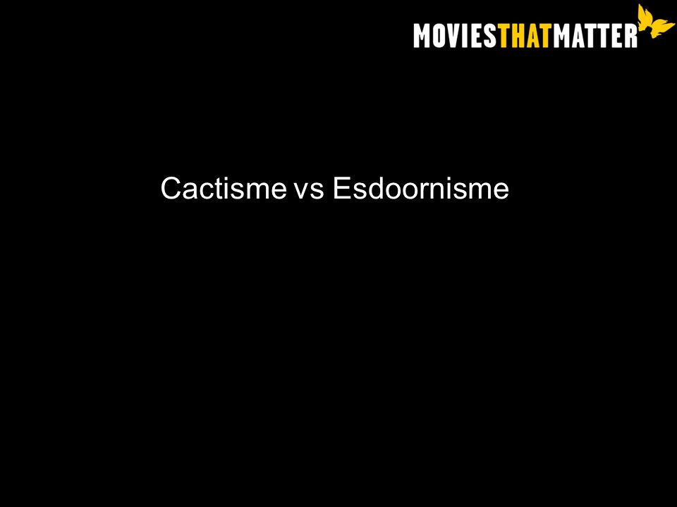 Cactisme vs Esdoornisme