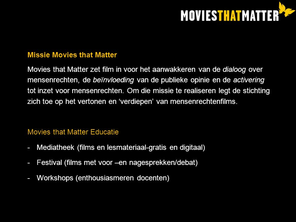 Missie Movies that Matter