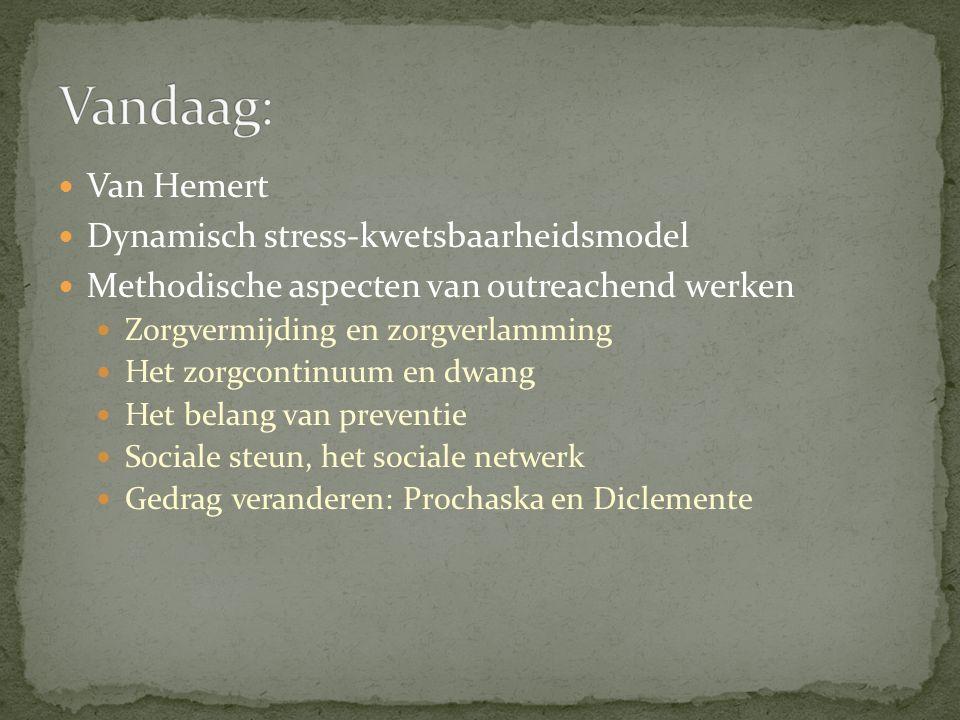 Vandaag: Van Hemert Dynamisch stress-kwetsbaarheidsmodel