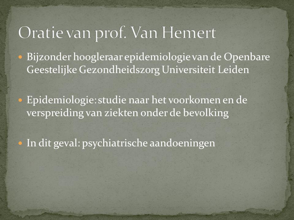 Oratie van prof. Van Hemert