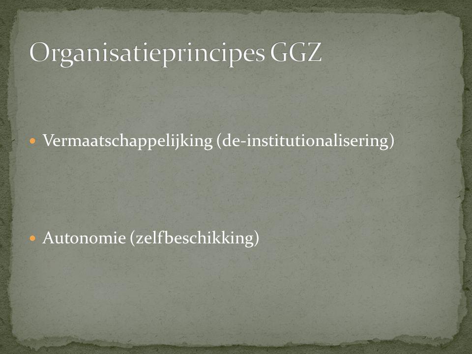 Organisatieprincipes GGZ