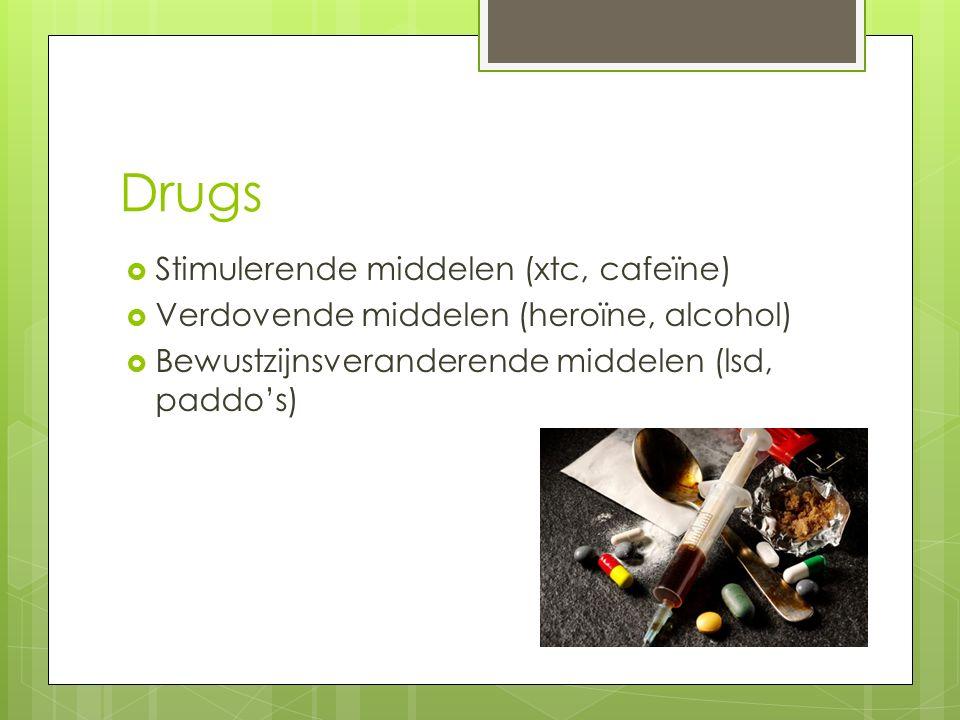 Drugs Stimulerende middelen (xtc, cafeïne)