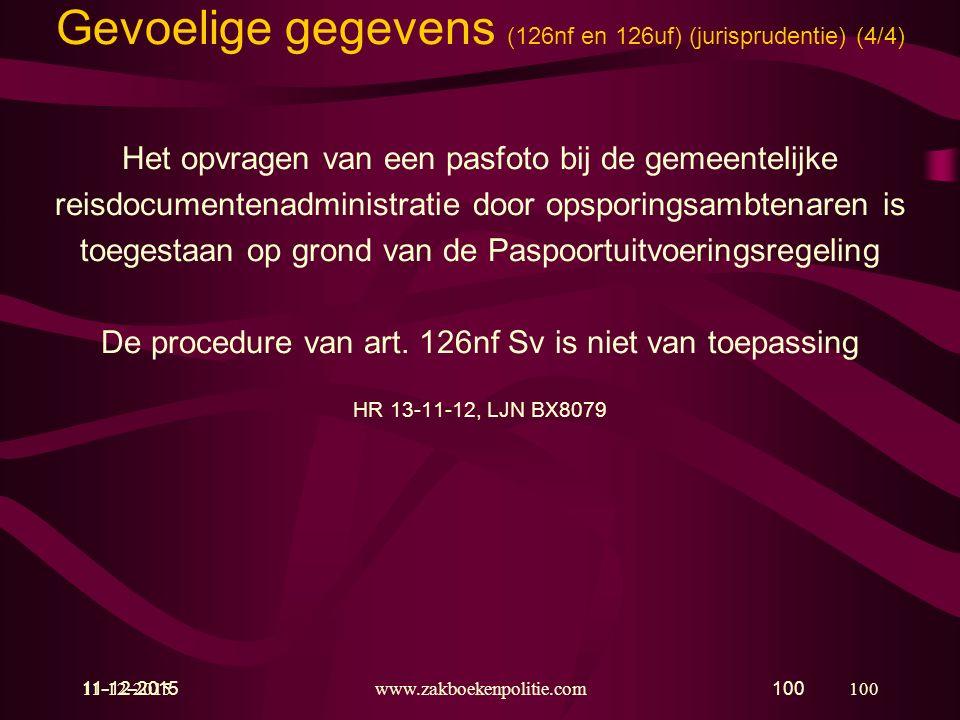 Gevoelige gegevens (126nf en 126uf) (jurisprudentie) (4/4)