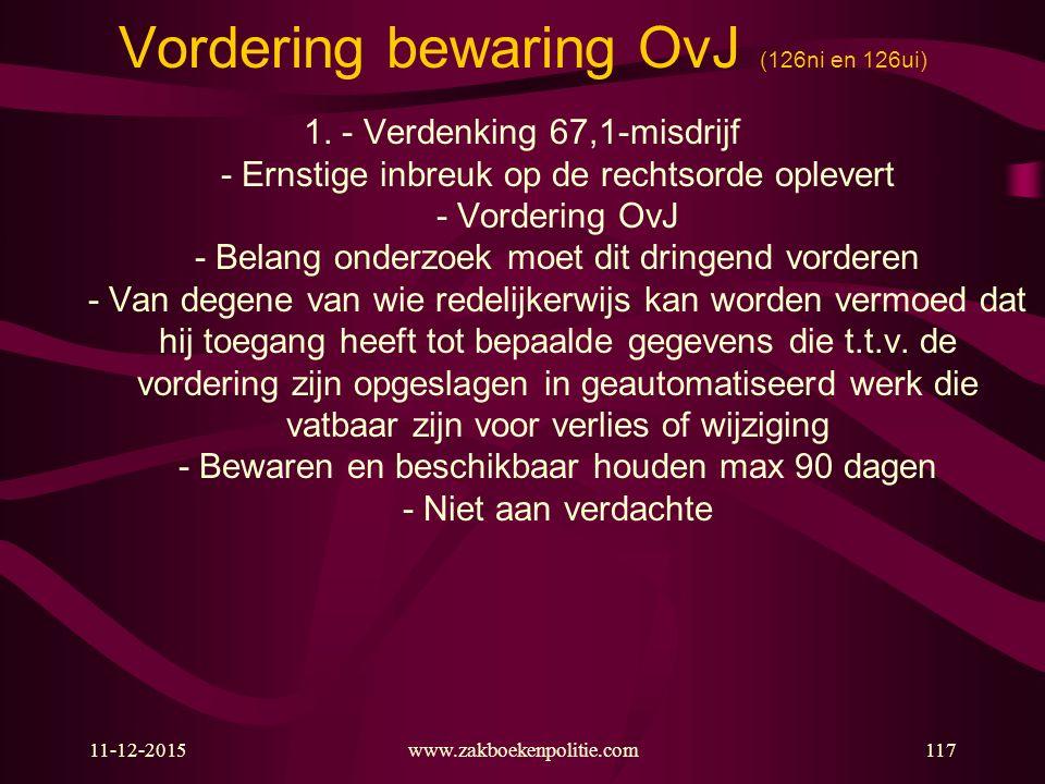 Vordering bewaring OvJ (126ni en 126ui)