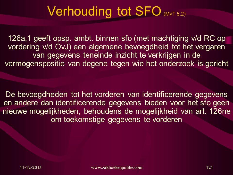 Verhouding tot SFO (MvT 5.2)
