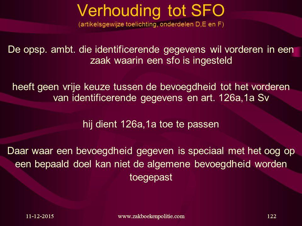 Verhouding tot SFO (artikelsgewijze toelichting, onderdelen D,E en F)