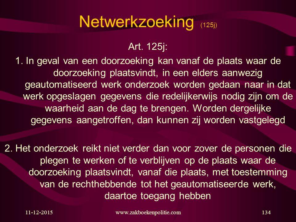 Netwerkzoeking (125j) Art. 125j:
