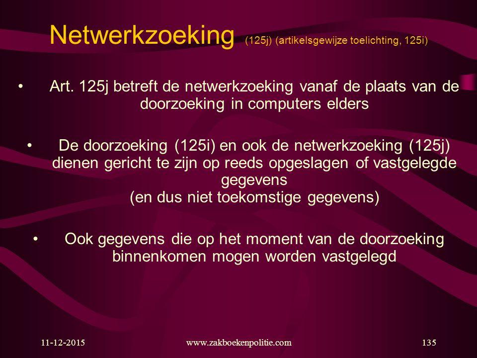 Netwerkzoeking (125j) (artikelsgewijze toelichting, 125i)