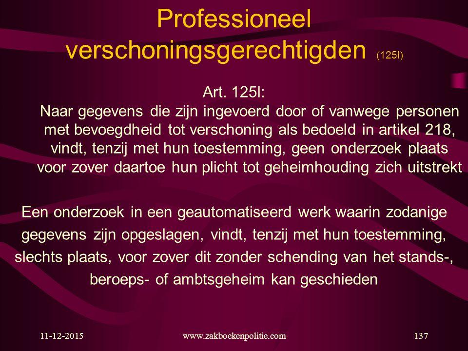 Professioneel verschoningsgerechtigden (125l)