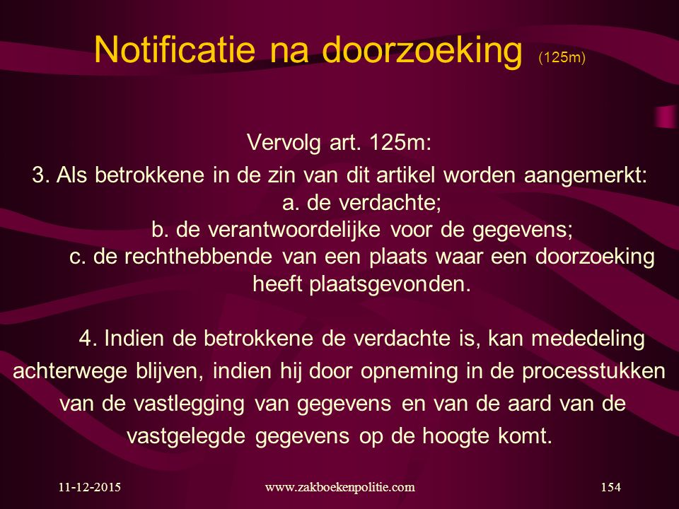 Notificatie na doorzoeking (125m)