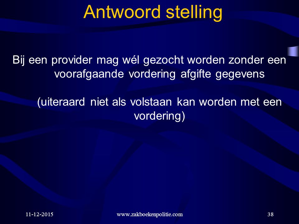 Antwoord stelling