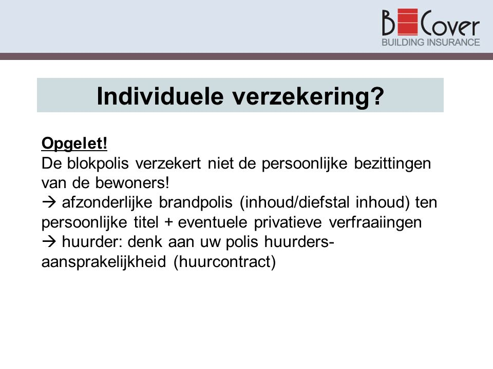 Individuele verzekering