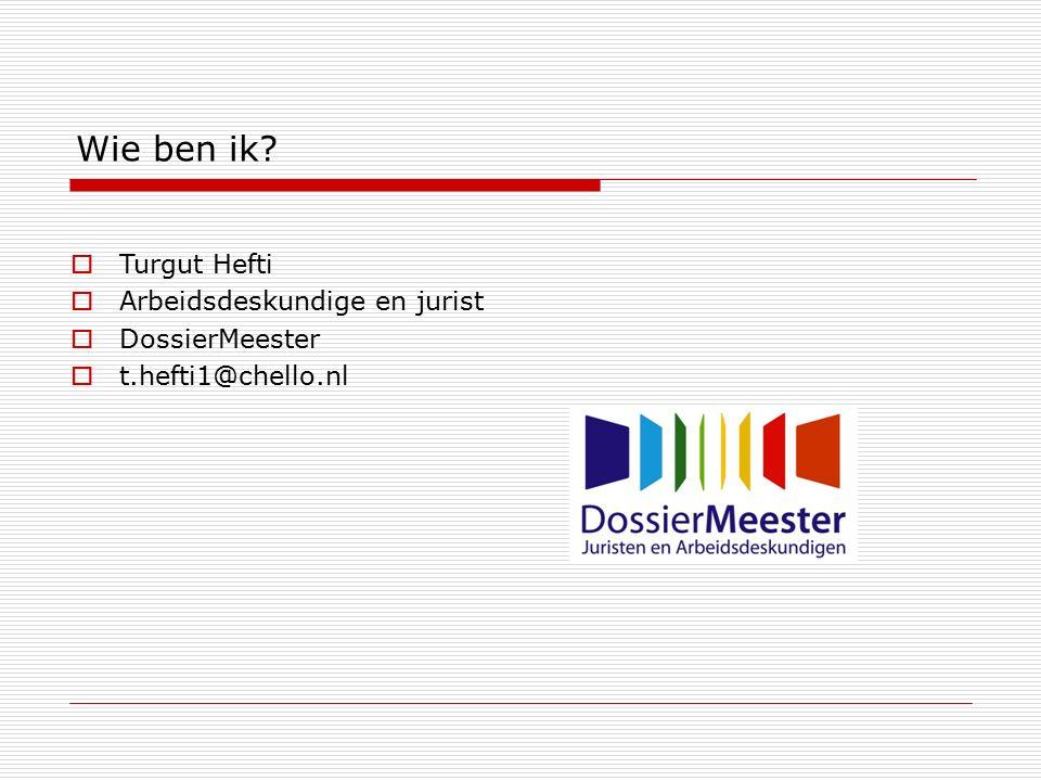 Wie ben ik Turgut Hefti Arbeidsdeskundige en jurist DossierMeester