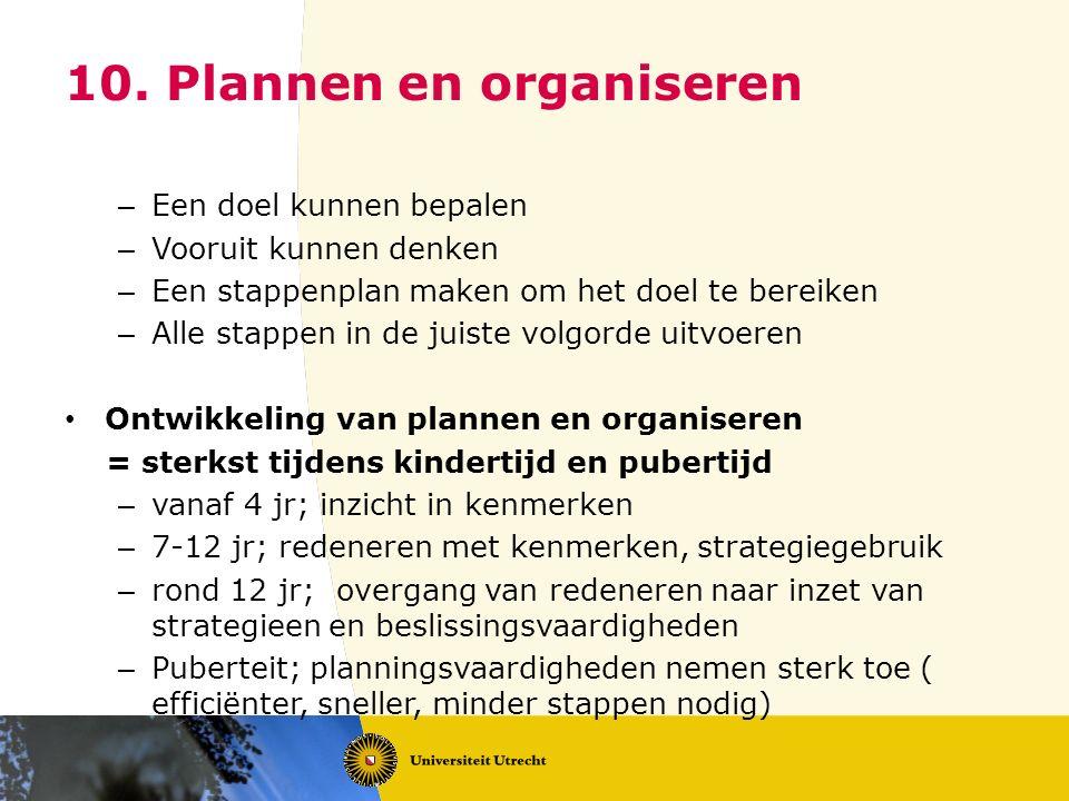 10. Plannen en organiseren