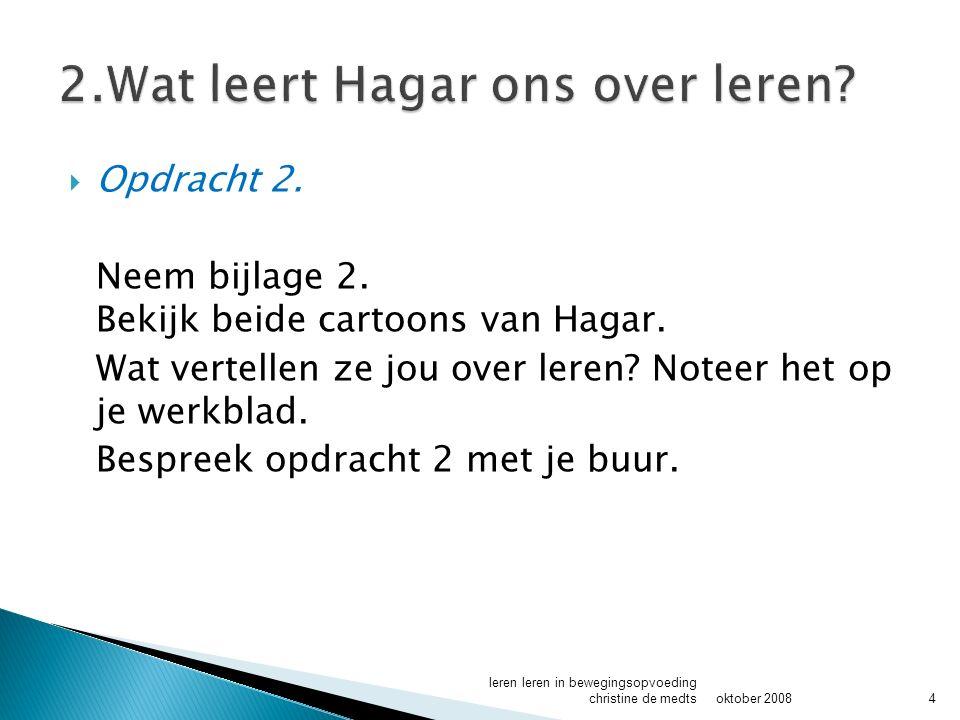 2.Wat leert Hagar ons over leren