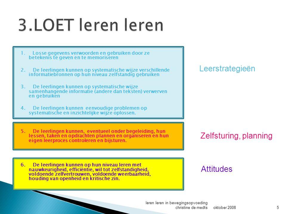 3.LOET leren leren Leerstrategieën Zelfsturing, planning Attitudes