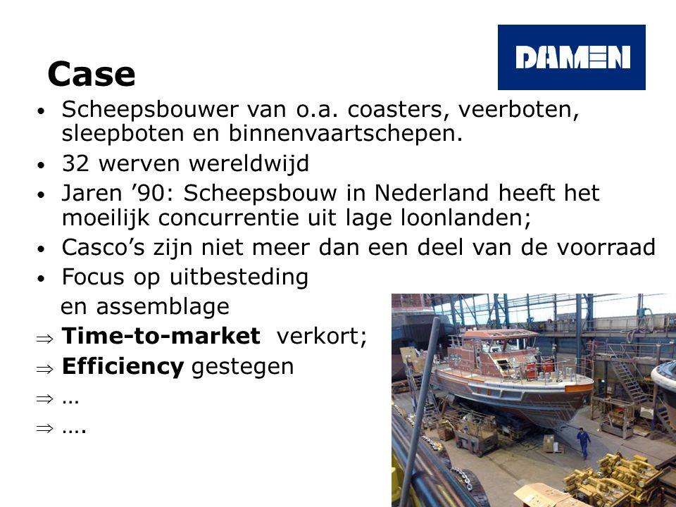 Case Scheepsbouwer van o.a. coasters, veerboten, sleepboten en binnenvaartschepen. 32 werven wereldwijd.