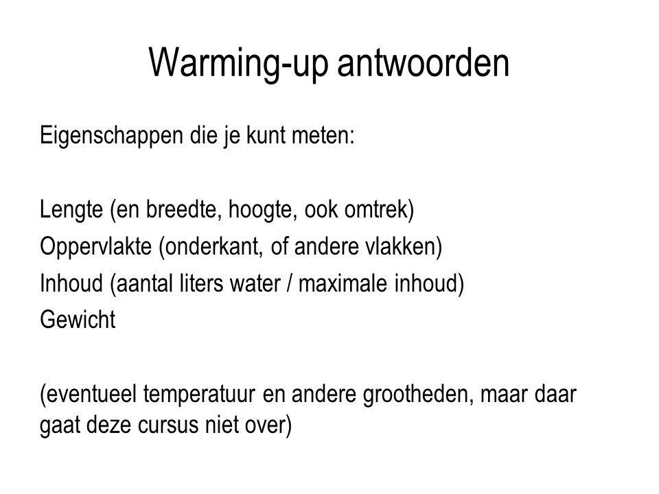 Warming-up antwoorden