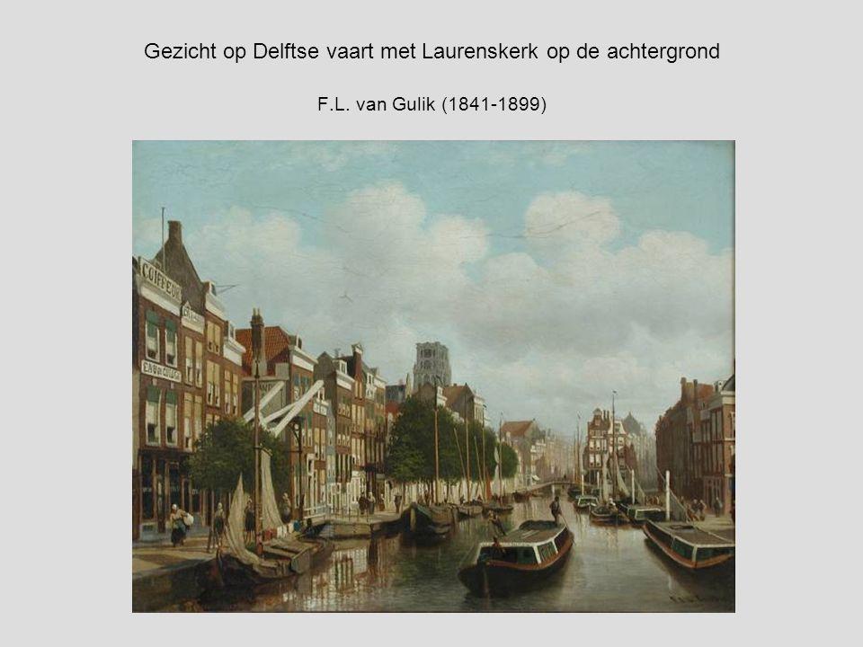 Gezicht op Delftse vaart met Laurenskerk op de achtergrond F. L