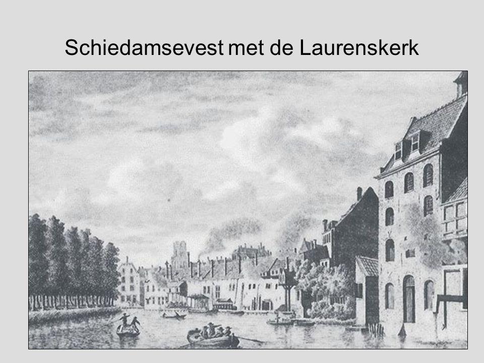 Schiedamsevest met de Laurenskerk