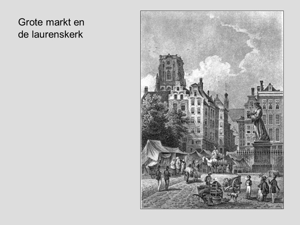 Grote markt en de laurenskerk