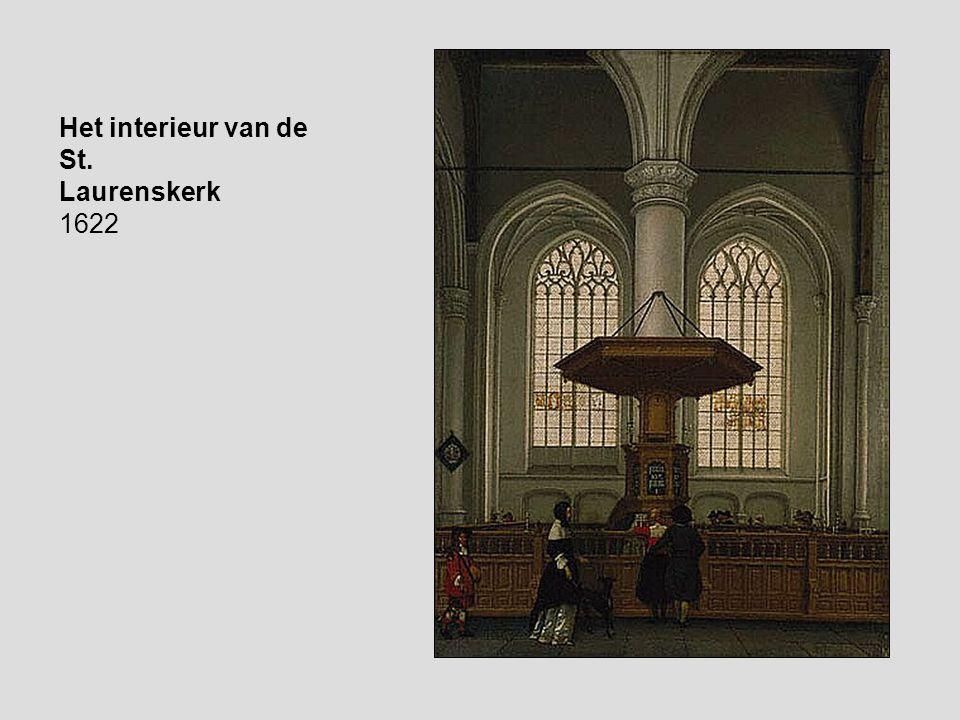 Het interieur van de St. Laurenskerk 1622