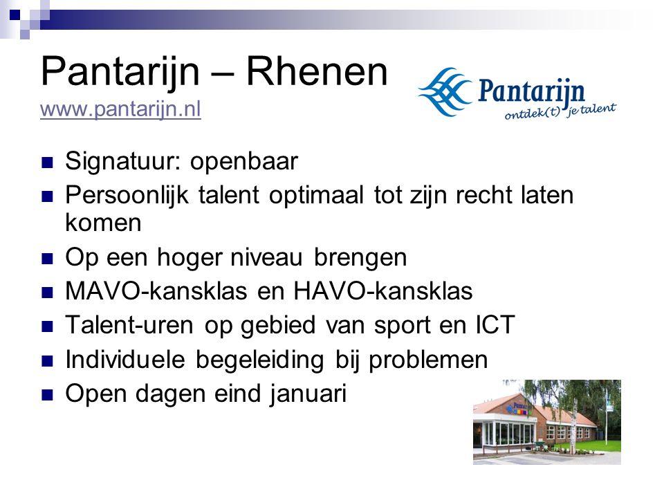 Pantarijn – Rhenen www.pantarijn.nl