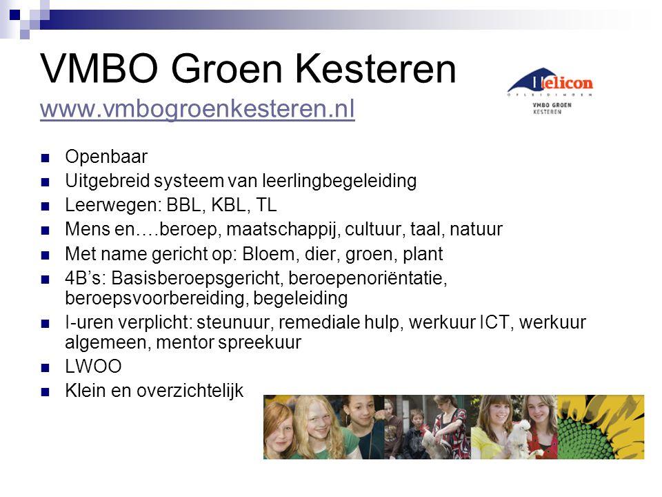 VMBO Groen Kesteren www.vmbogroenkesteren.nl
