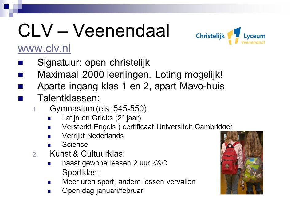 CLV – Veenendaal www.clv.nl