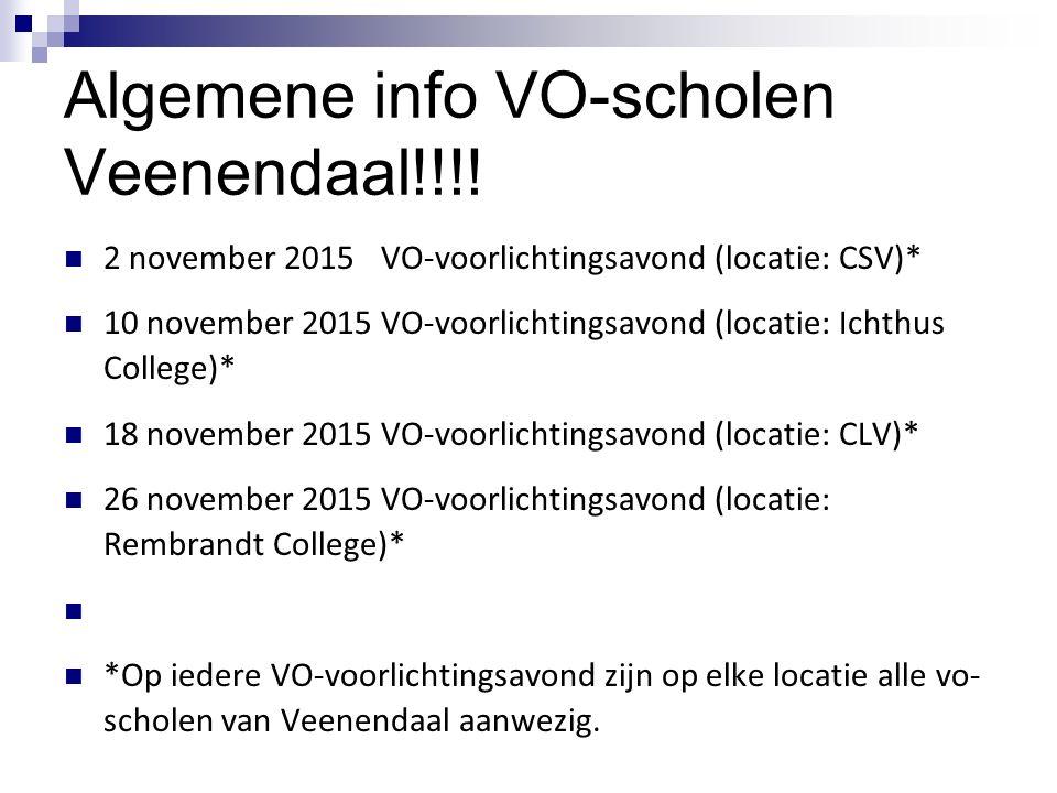Algemene info VO-scholen Veenendaal!!!!