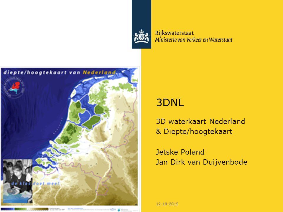 3DNL 3D waterkaart Nederland & Diepte/hoogtekaart Jetske Poland