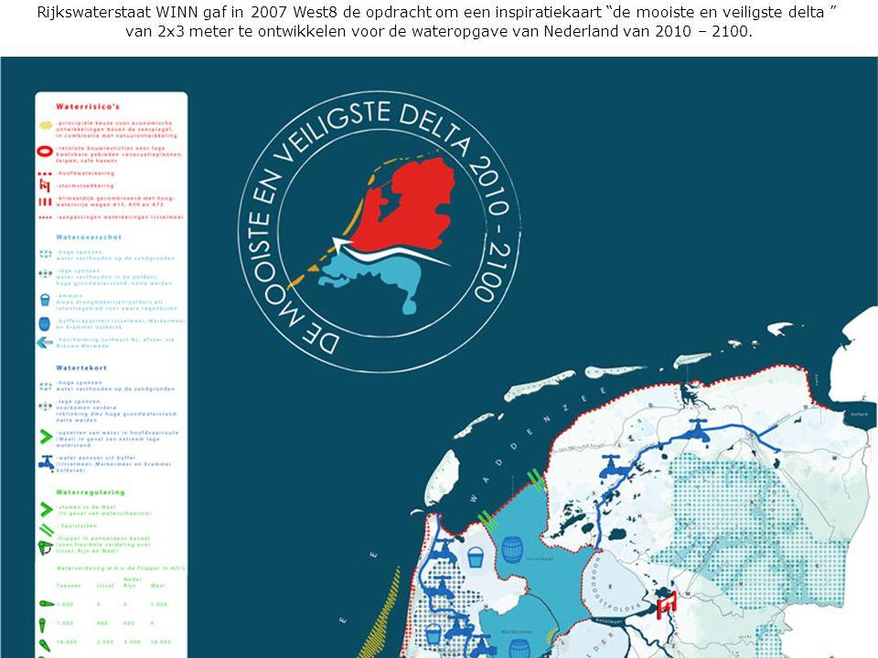 Rijkswaterstaat WINN gaf in 2007 West8 de opdracht om een inspiratiekaart de mooiste en veiligste delta