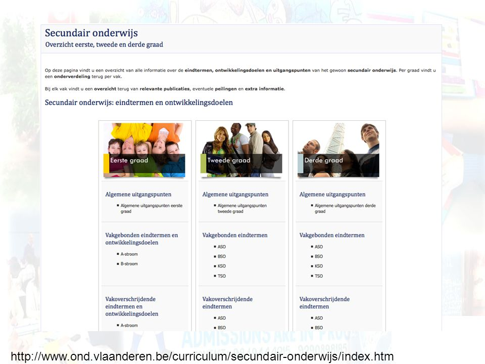 http://www. ond. vlaanderen. be/curriculum/secundair-onderwijs/index