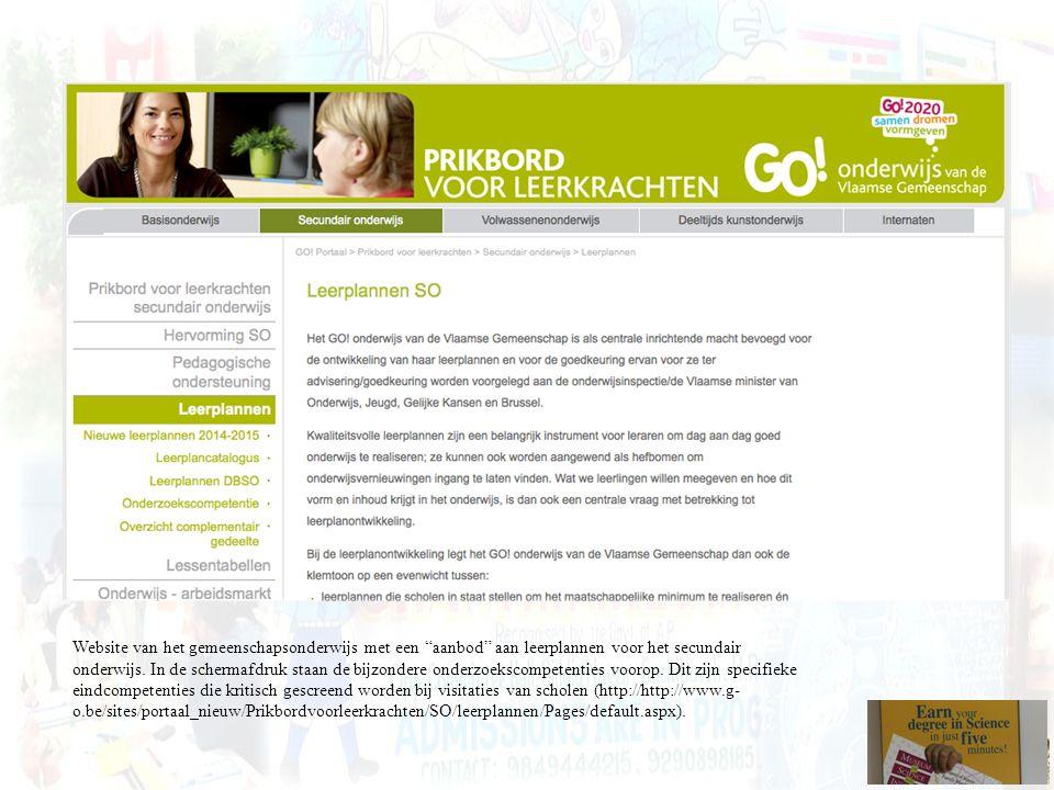 Website van het gemeenschapsonderwijs met een aanbod aan leerplannen voor het secundair onderwijs.