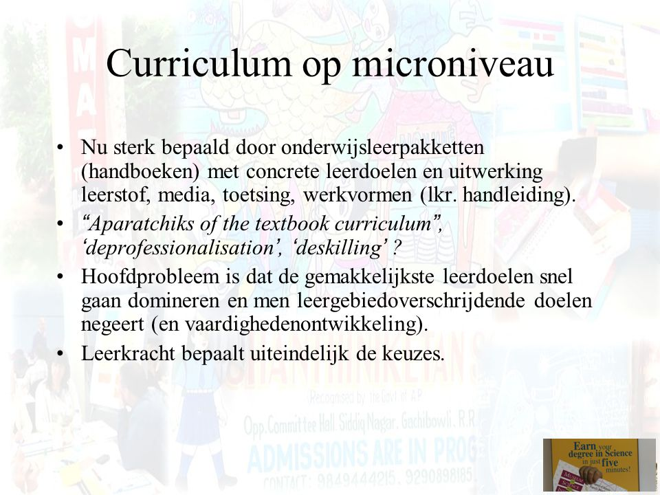 Curriculum op microniveau
