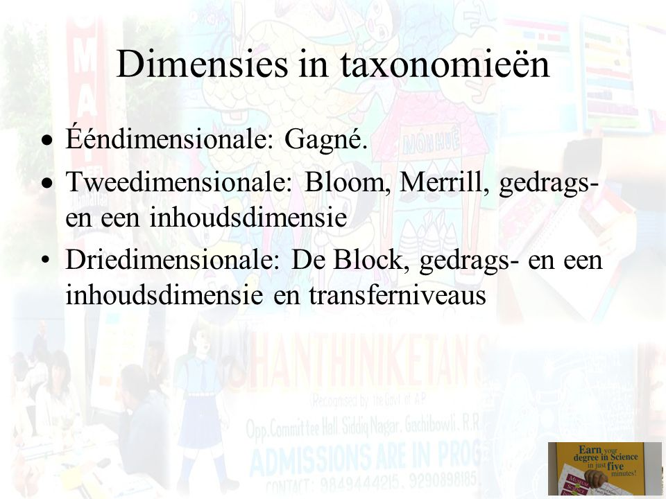 Dimensies in taxonomieën