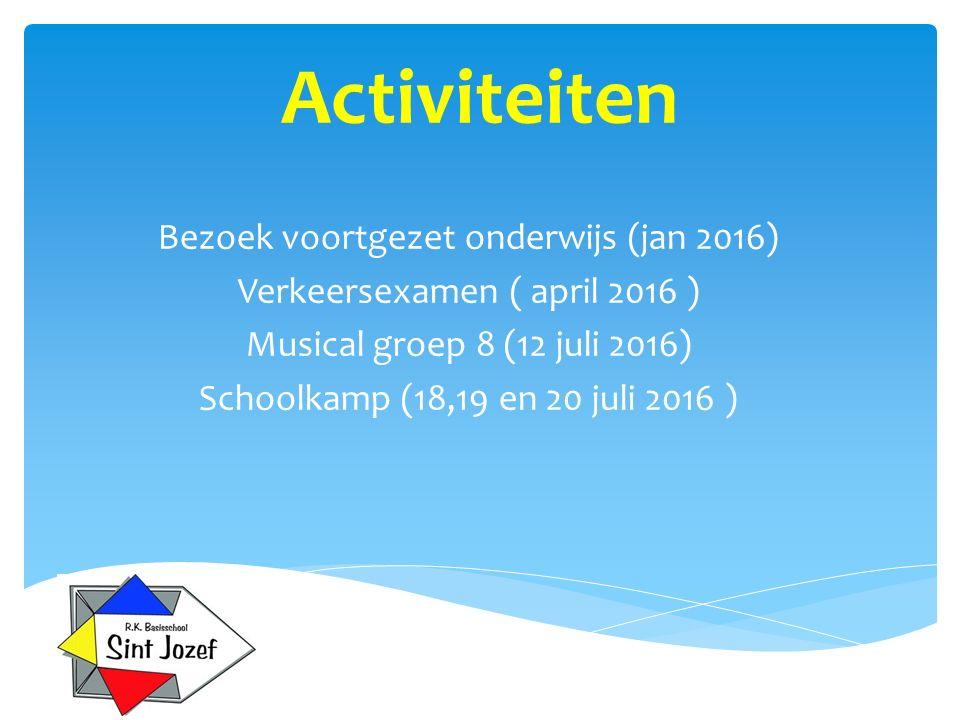 Activiteiten Bezoek voortgezet onderwijs (jan 2016)