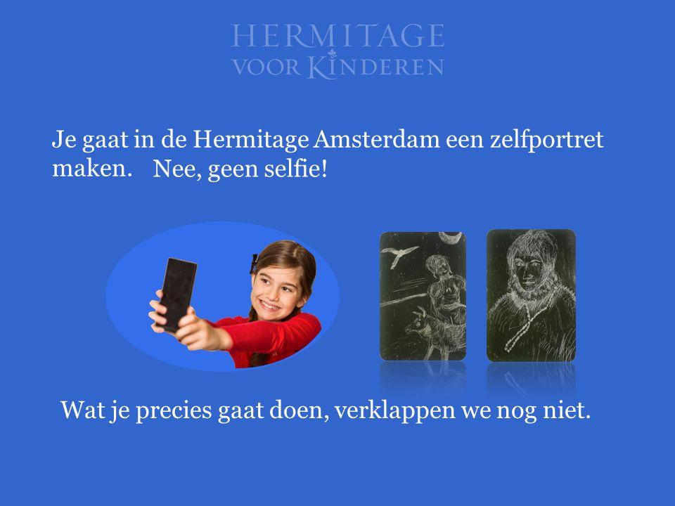 Je gaat in de Hermitage Amsterdam een zelfportret maken.